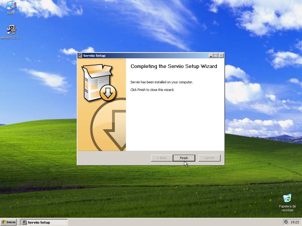 Install Serviio XP